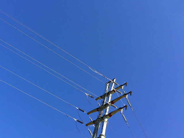 空014(青空と電柱)