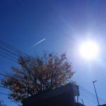 空016(飛行機雲と太陽)