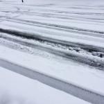 風景046(雪のわだち)