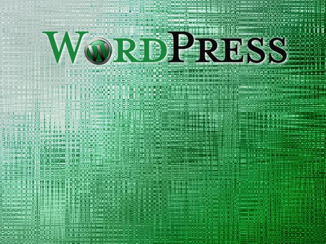 素材067(CG39)WORDPRESSロゴ緑背景