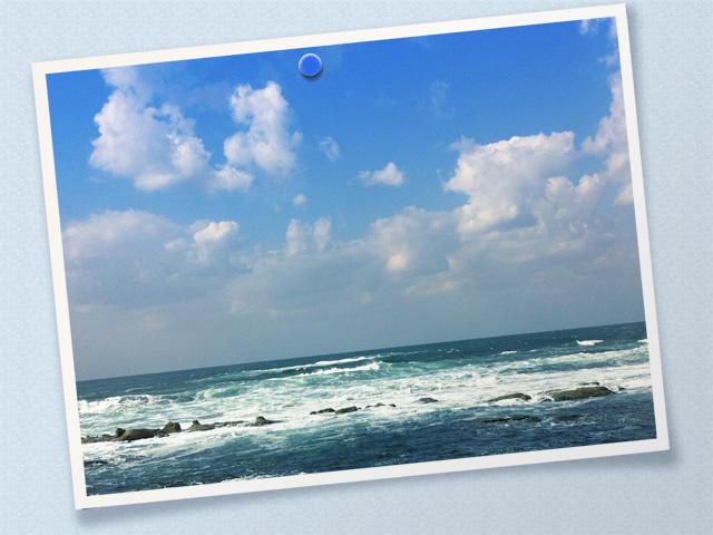 風景062(海・フォトカード風)