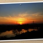 風景063(夕焼け・フォトカード風)