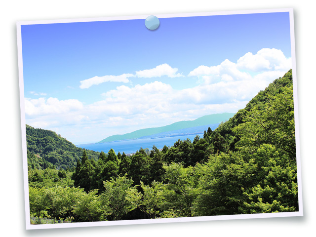 風景075(山から望む琵琶湖/フォト風)