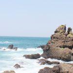 晴れ渡った空と海の写真画像(P024)