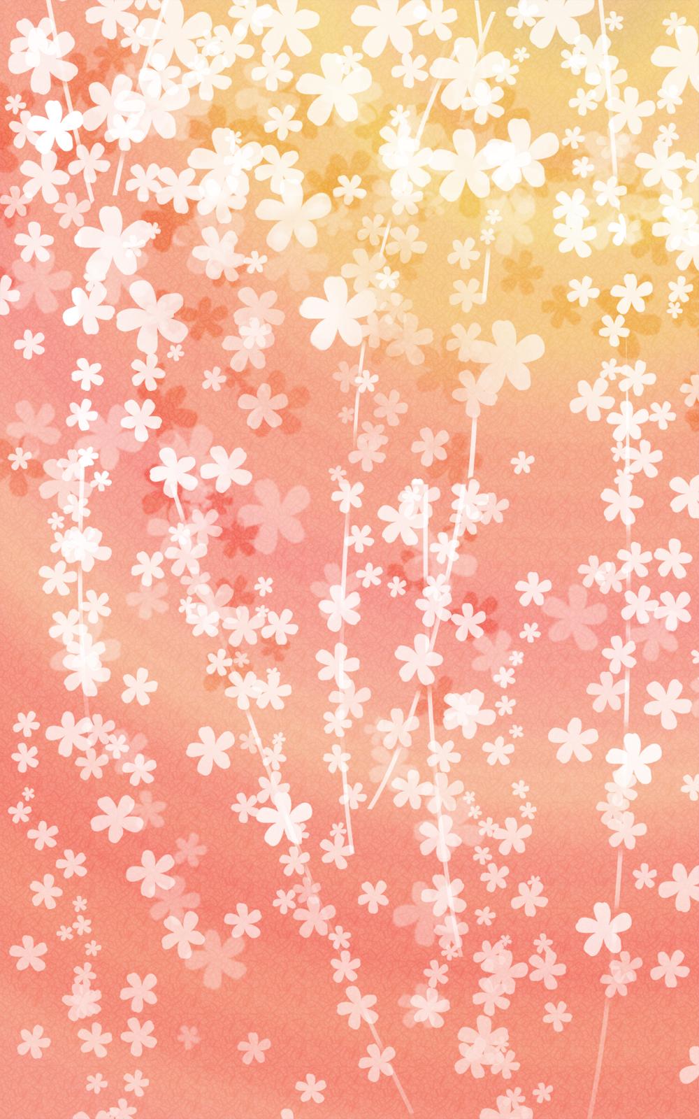 咲きこぼれる花の和風表紙画像(8b)