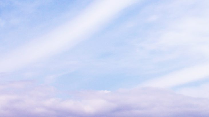 グラデーションが美しい空と海の写真画像(P043)