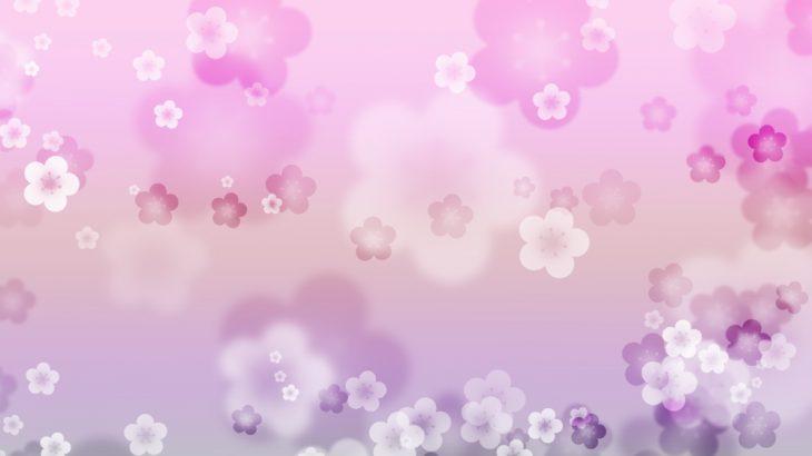 幻想的な梅の花の和風表紙画像(9b)