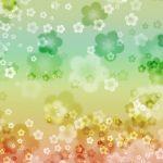 幻想的な梅の花の和風表紙画像(9c)
