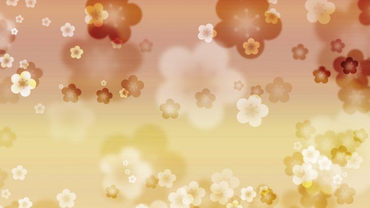 幻想的な梅の花の和風表紙画像(9d)